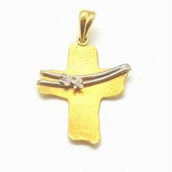 Σταυρός χειροποίητος 14Κ Χρυσό και Λευκόχρυσο