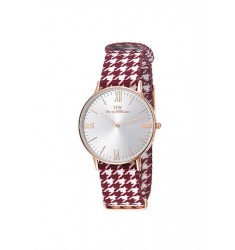 HARRY WILLIAMS Rose Gold Multicolor Fabric Strap