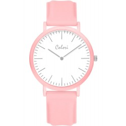 COLORI Light Pink Rubber Strap