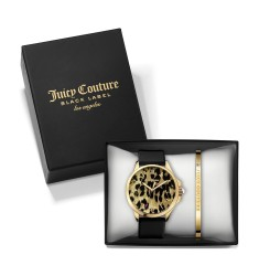 Juicy COUTURE Jetsetter Black Rubber Strap Gift Set