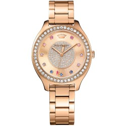 Juicy COUTURE Sierra Crystals Rose Gold Stainless Steel Bracelet