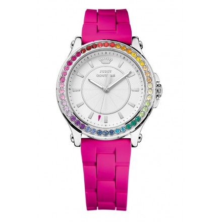 Juicy Couture Crystals Fuchsia Silicon Strap