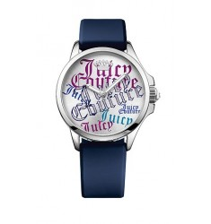 JUICY COUTURE Jetsetter Blue Rubber Strap