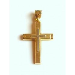 Σταυρός 14Κ Χρυσό και Λευκόχρυσο